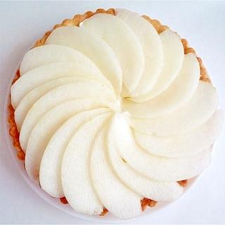 梨のレアチーズケーキ