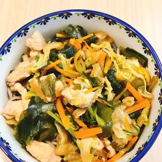 温かけそば 野菜たっぷり鶏胸肉ver