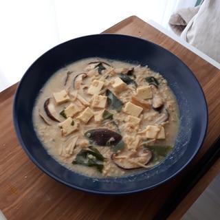 オートミールレシピ*胡麻豆乳きのこリゾット