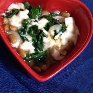 離乳食☆納豆と豆腐とほうれん草の和え物