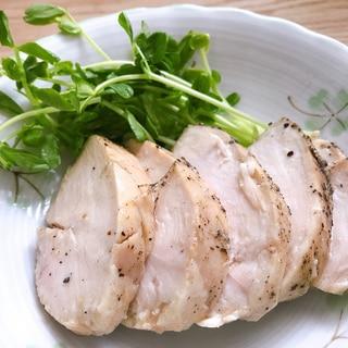 ごま油で簡単にしっとり柔らか鶏ハム