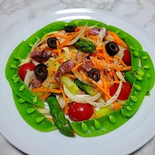ホタルイカと春野菜のセビーチェ