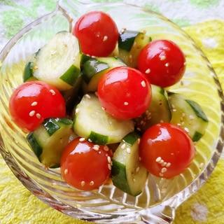 ミニトマトときゅうりの韓国風