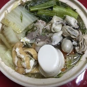 """あったかほっこり""""牡蠣の土手鍋"""""""