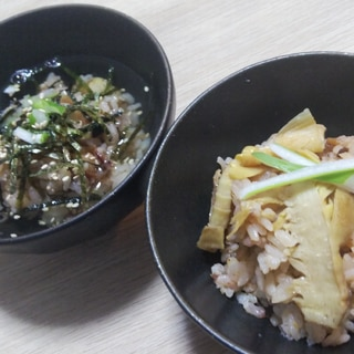 簡単!ホタルイカ沖漬けと筍の炊き込みご飯