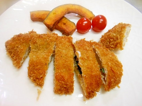 ☆豚薄切り肉で大葉とチーズのカツレツ★
