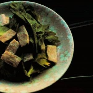 クレソンとカリカリベーコンのサラダ