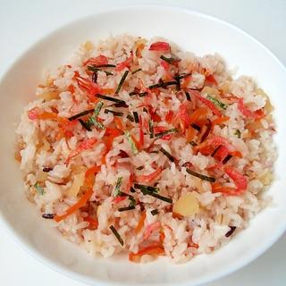 干し桜えびと刻み海苔のせ★三十雑穀米★ちらし寿司