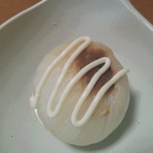 美味しい☆新たまねぎのレンジ蒸し♪味噌マヨ丸ごと♪