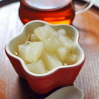喉のイガイガに★和梨のはちみつ生姜
