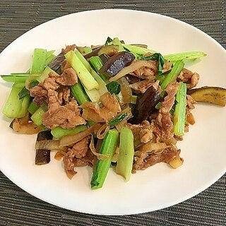 小松菜と豚肉のさっぱり炒め