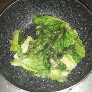 シンプルサニーレタス炒め