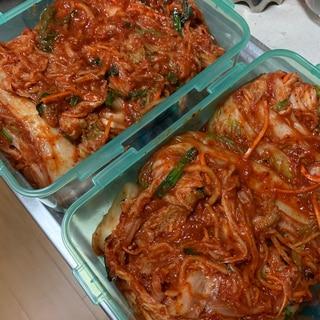 白菜キムチ(覚書)