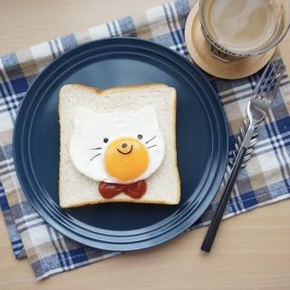 目玉焼きねこ食パン-100均セリアのアイテム