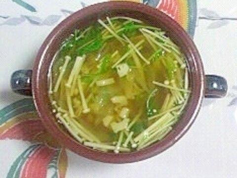 レンコン入りのオニオンスープ~♫