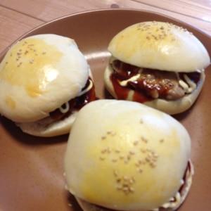 HBでハンバーガーのバンズを簡単手作り!!