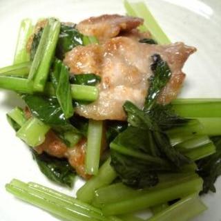 豚肉と小松菜のごま油炒め