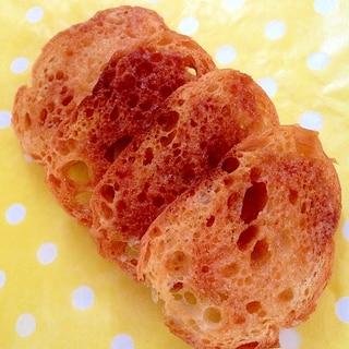 フランスパンで三温糖ラスク♡