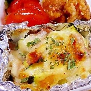 ズッキーニのマヨチー焼き、お弁当用