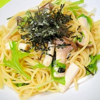 お吸い物の素で☆松茸風味の和風パスタ