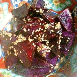 甘みたっぷり!紫芋で大学芋