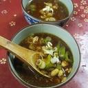 しし唐大豆の味噌汁