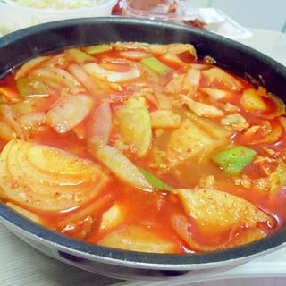 辛い野菜スープ