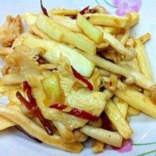 マコモ茸と白シメジのピリ辛炒め
