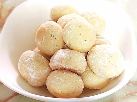 紅茶とホワイトチョコのスノーボールクッキー♪