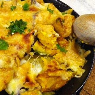 グリルパンで、茄子かぼちゃチーズ焼き