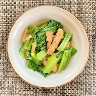 冷やして美味しい!小松菜と油揚げの煮浸し