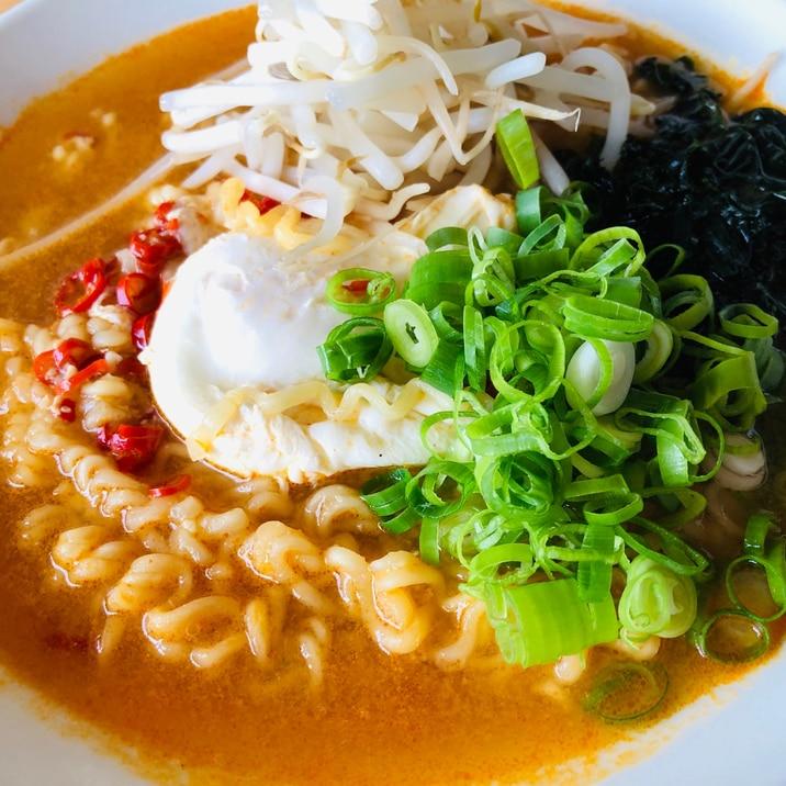 サリ麺で☆簡単ピリ辛ラーメン