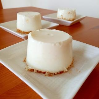 牧場の朝でレアチーズケーキ