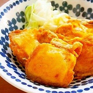 豆腐のカレー粉ピカタ♪