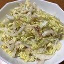 白菜と鰹節のコールスロー
