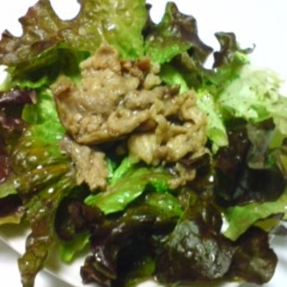 豚肉のサニーレタスサラダ