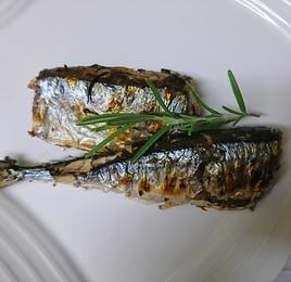 秋刀魚のローズマリー焼き
