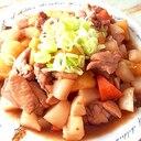 レンジで時短クッキング!鶏モモと根菜の甘辛炒め♪