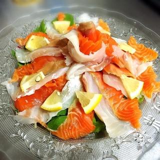 超オシャレ!サーモンと真鯛のカルパッチョ