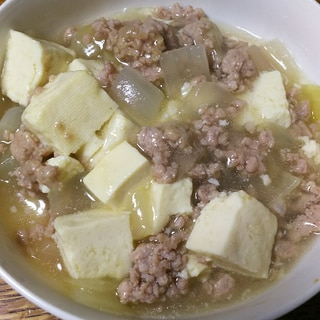 豆腐&玉ねぎ&豚ミンチの創味シャンタン餡