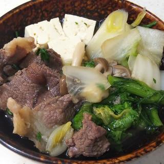 ぼたん鍋(いのしし肉の鍋)