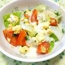 トマトとスクランブルエッグのサラダ