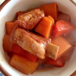 骨付きバラ豚肉と野菜煮込み