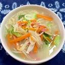 たっぷり野菜炒めのとんこつラーメン