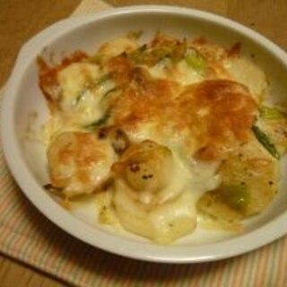 和風 長芋と長ネギのチーズ焼き