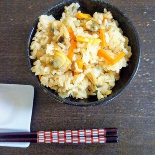 あさりと筍の炊き込みご飯