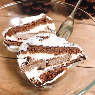 余ったホイップクリームで贅沢チョコパイアイス