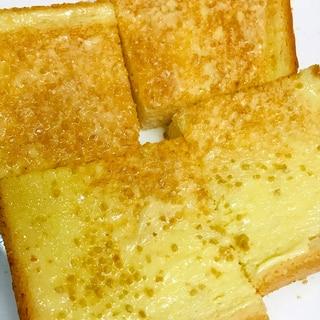 シンプルスイーツトースト●練乳&砂糖バタートースト