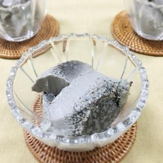 甘さ控えめ☆簡単黒ごま豆乳プリン