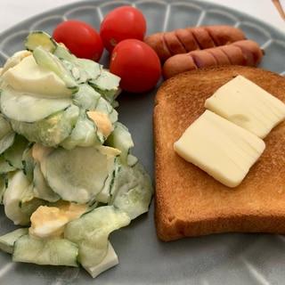 ダイエット中の方に★きゅうりがメインの卵サラダ